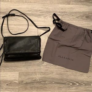 Allsaints Black Crossbody Purse.